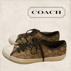 "Coach ""Empire"" Brown Signature C Women's Sneakers 8"